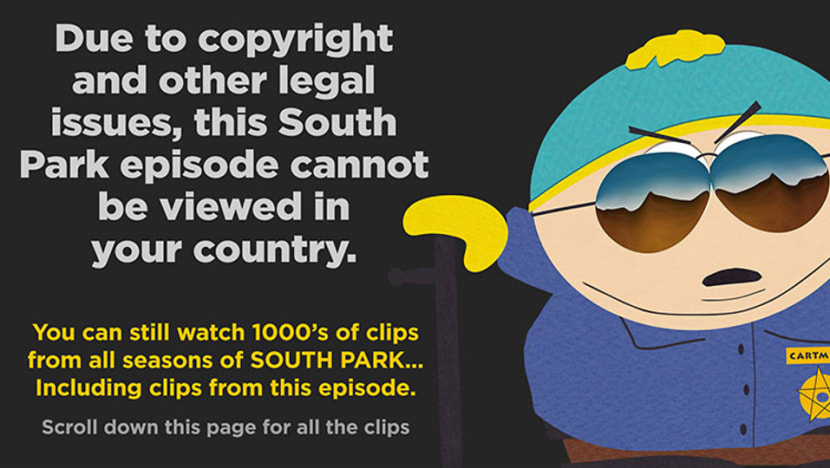 South Park creators issue mock apology over China censorship