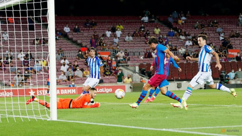 Football: Barca sink Real Sociedad in first game without Messi