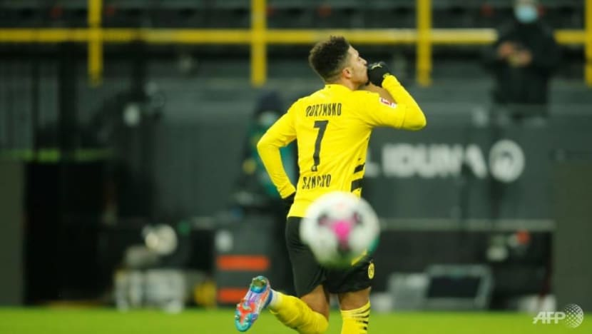Football: Sancho ends scoring drought as Dortmund beat Wolfsburg 2-0