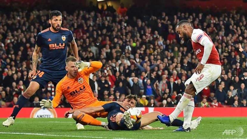 Football: Lacazette, Aubameyang edge Arsenal towards Europa League final
