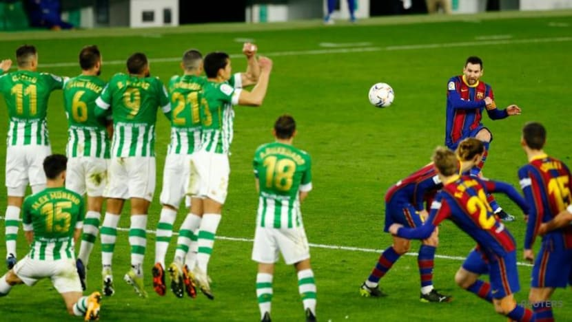 Late Trincao strike gives Barca comeback victory over Betis