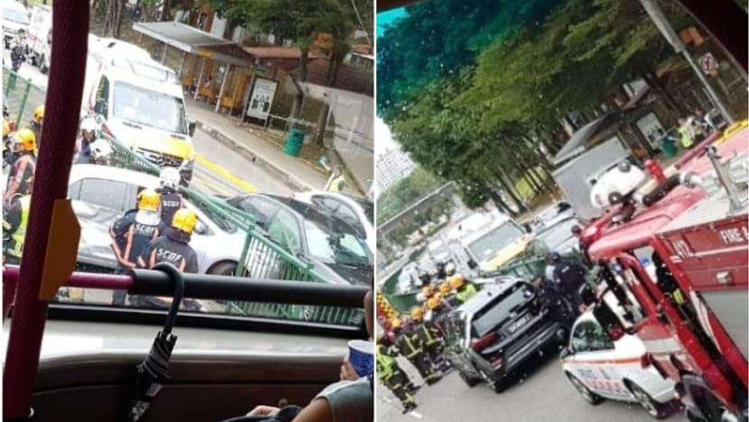 2 taken to hospital after accident along Jurong West