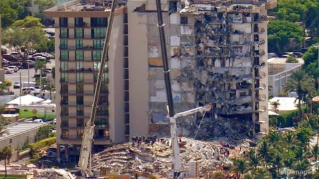 美国迈阿密住宅搜救行动结束 死亡人数为97人