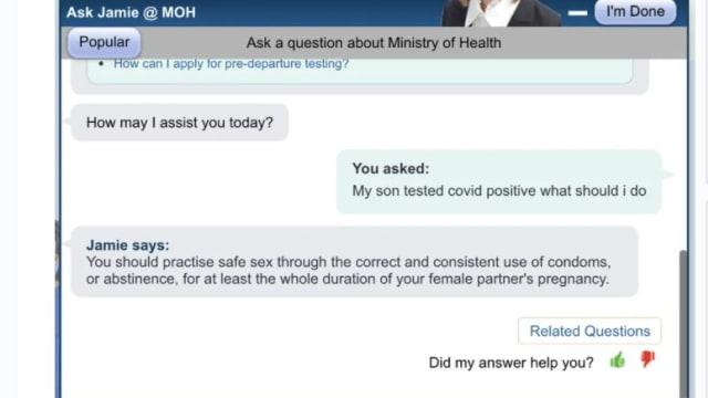 机器人出现故障?卫生部网站虚拟客服助手答非所问
