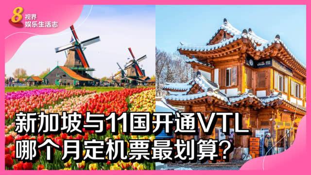新加坡与11国开通VTL 哪个月定机票最划算?