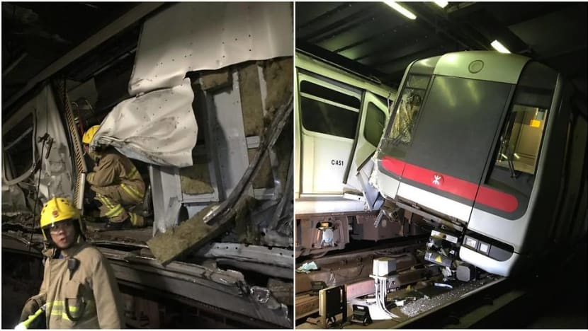 Hong Kong faces commuter chaos after MTR train collision