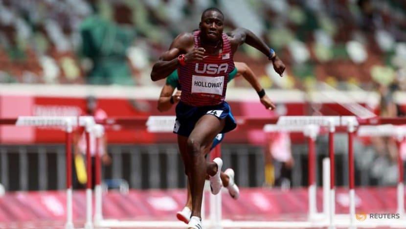 Athletics: World champion Holloway reaches 110m hurdles final at Olympics