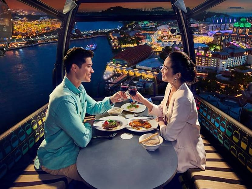 Missed your chance to dine in SIA's A380? You can now do so in a cable car