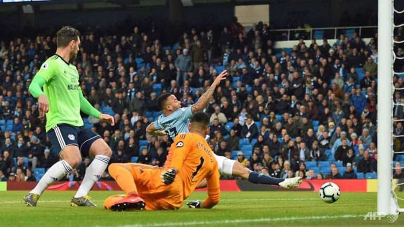 Football: Manchester City beat Cardiff to return to Premier League summit