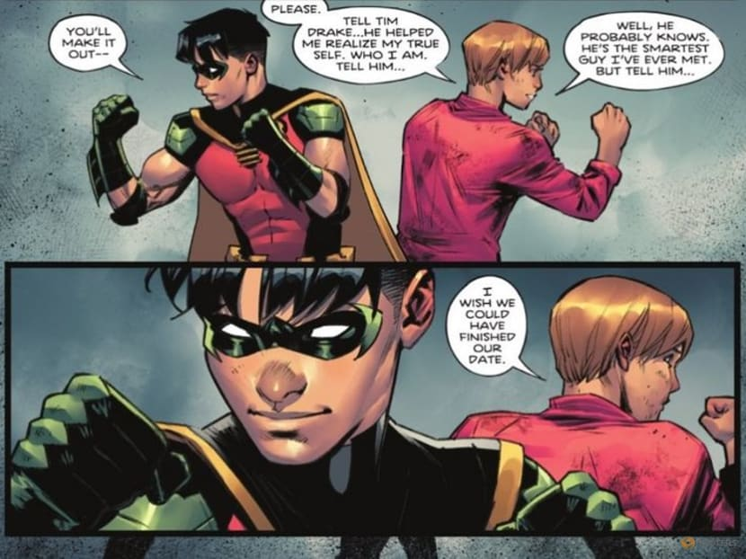 Batman comic shifts focus to Robin's private life, his sexuality