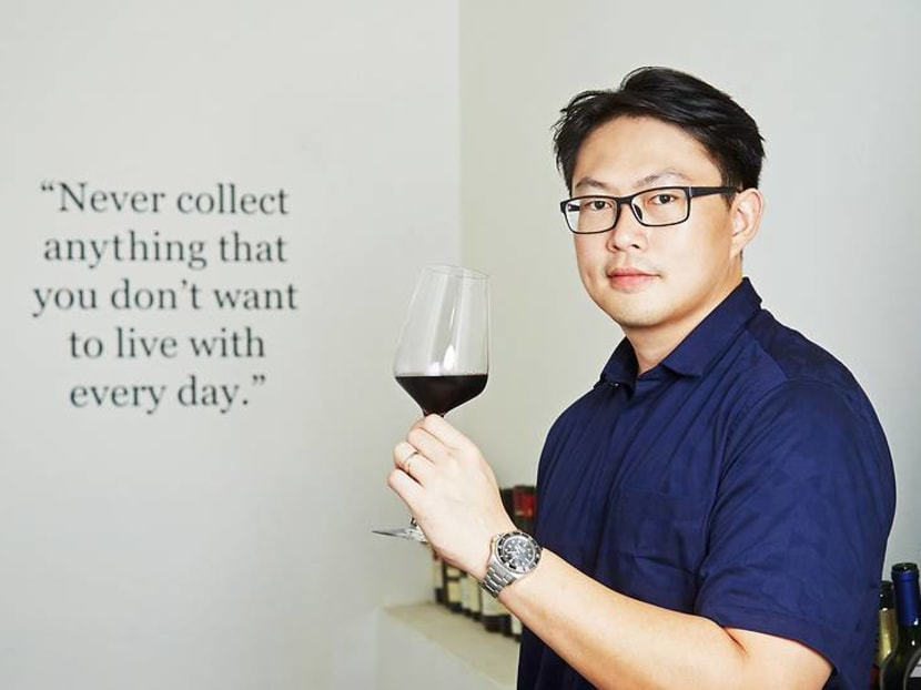 Why does this wine collector with almost 3,000 bottles consider himself a 'rebel'?