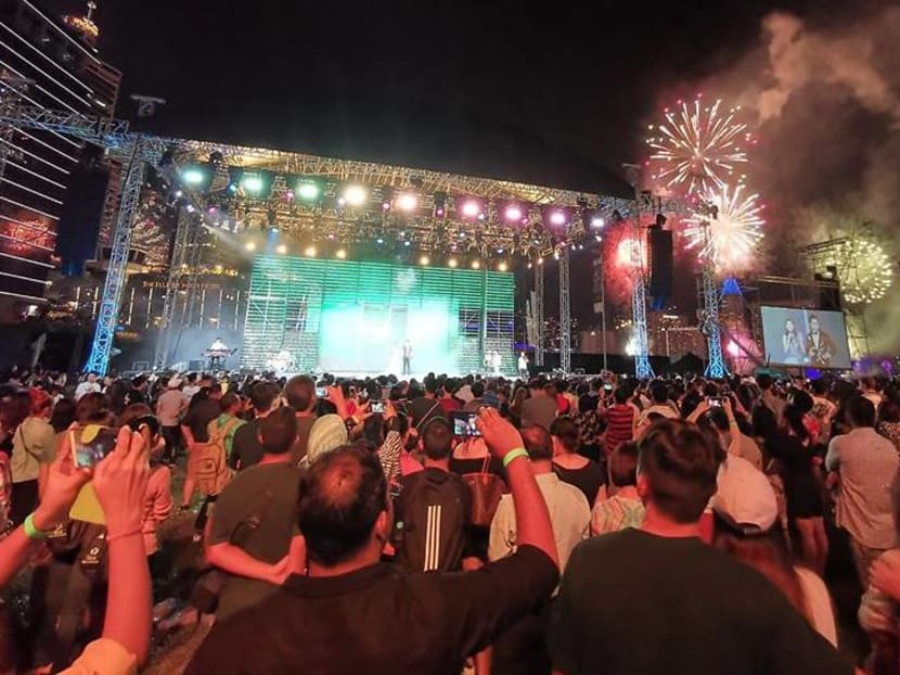 Fireworks, dance, music: Fun for all at Mediacorp's New Year countdown party
