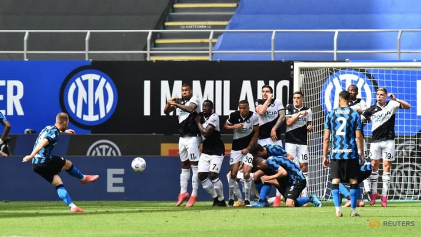 Football: Jubilant Inter finish title-winning season with Udinese rout