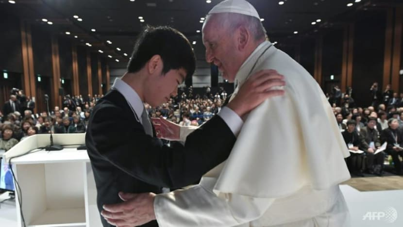 'A friendly hand': Pope Francis urges more help for Fukushima victims