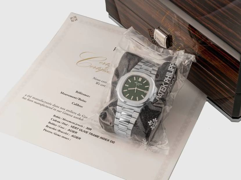 Patek Philippe's highly sought-after green Nautilus appears at auction