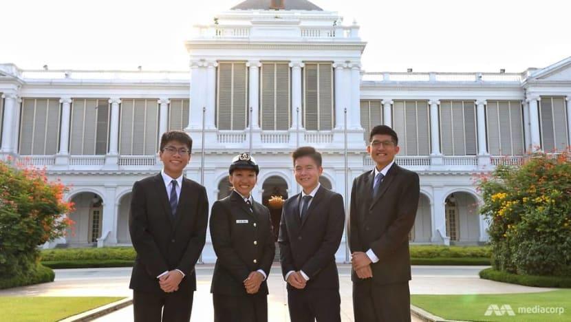 Four receive President's Scholarship in Istana ceremony