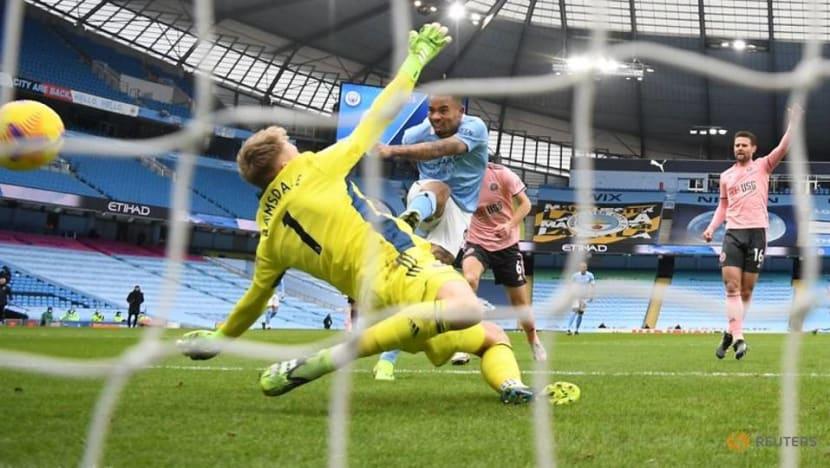 Man City extend lead as Jesus goal sinks Sheffield United