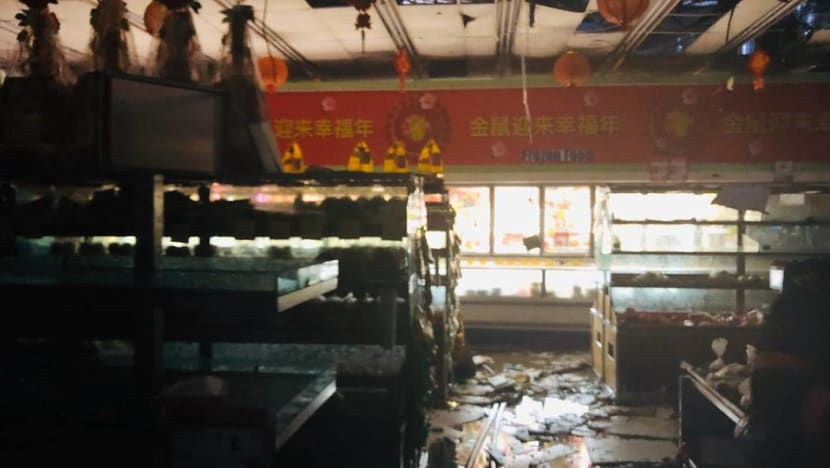 Fire breaks out at Sheng Siong supermarket in Bedok North