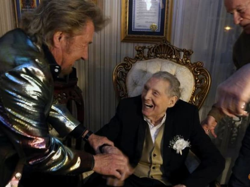 Rock pioneer Jerry Lee Lewis renews marriage vows with seventh wife