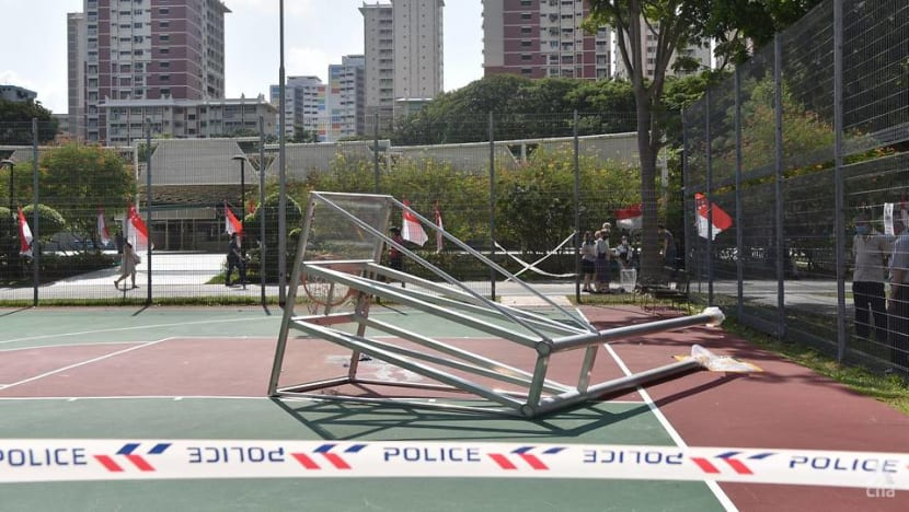 Teen dies after basketball hoop structure in Bedok South falls on him