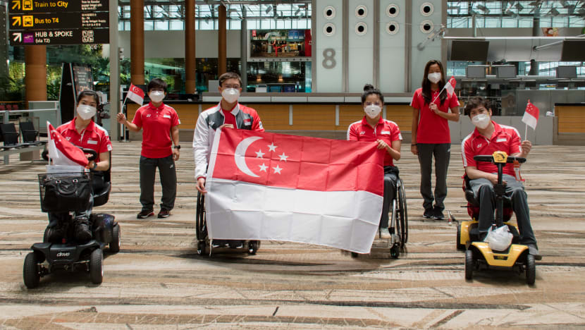 First batch of Team Singapore Paralympians departs for Tokyo