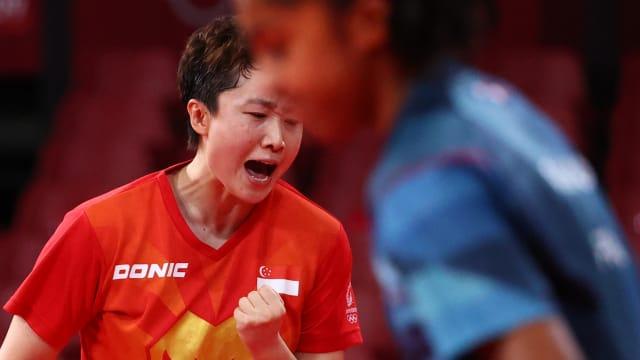 冯天薇惊险大逆转 我国乒乓女团3比0胜法国