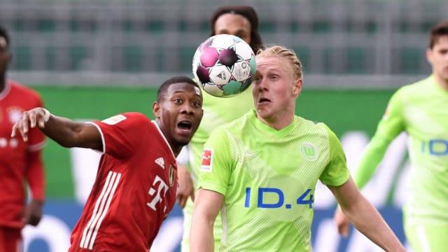德甲:3比2战胜沃尔夫斯堡 拜仁九连冠在望