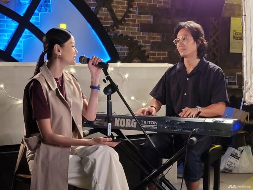 Qi Yuwu, Sheila Sim, Chantalle Ng train in singing for girl group-themed drama