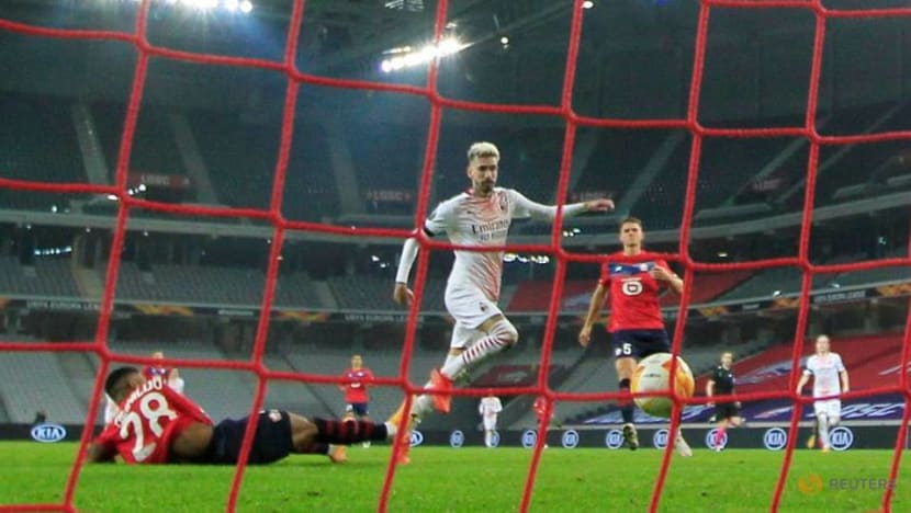 Football: Milan held to 1-1 draw by Lille in Europa League
