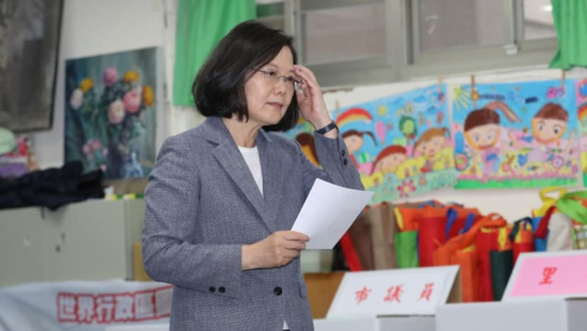Taiwan president Tsai Ing-wen resigns as chair of ruling DPP after losses in local polls