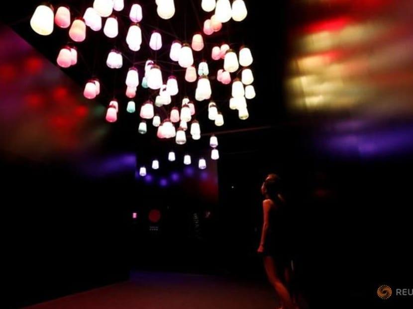 Japan's teamLab melds museum and sauna in fresh digital art experience