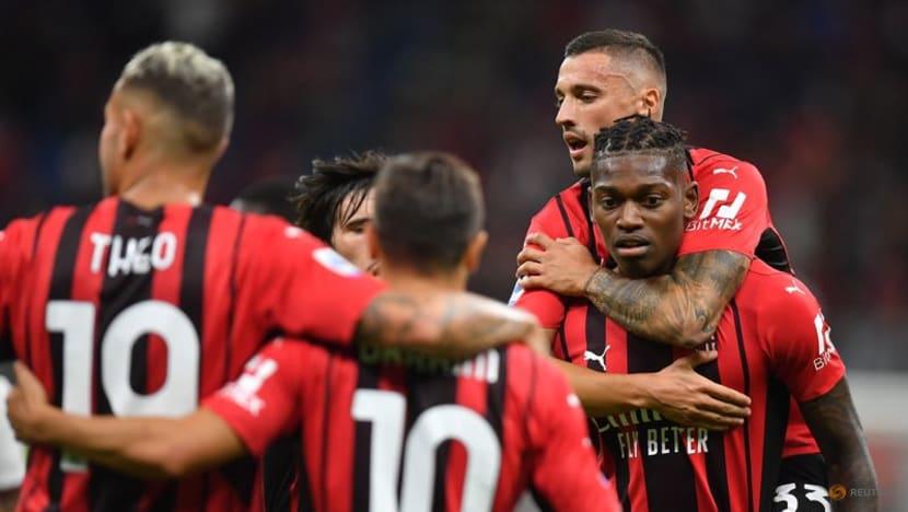 Football:Giroud double fires AC Milan to win over Cagliari