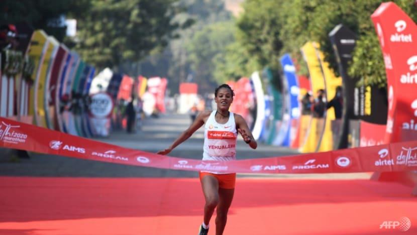 Athletics: Ethiopia's Yehualaw smashes half marathon world record