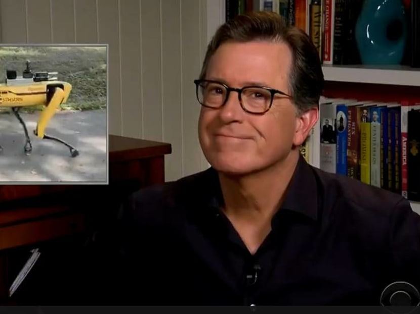 Singapore's safe distancing robodog gets a shout-out from Stephen Colbert