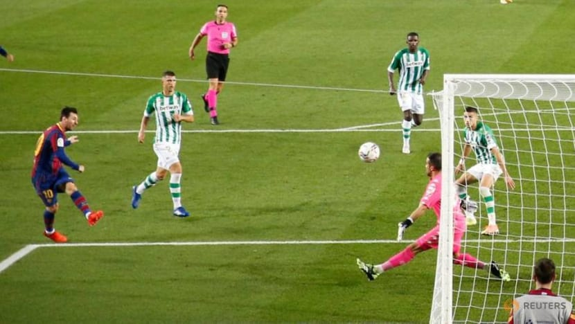 Messi at the double against Betis after starting on bench