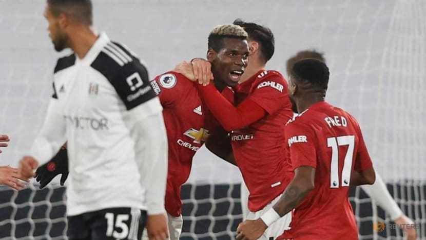 Football: Pogba stunner sends Manchester United top with win at Fulham