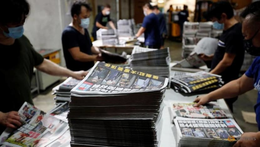 Hong Kong's Apple Daily says it only has cash for few weeks after assets frozen