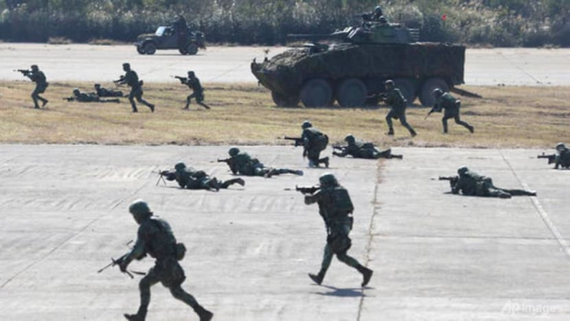 Taiwan military stages drill aimed at repelling China attack