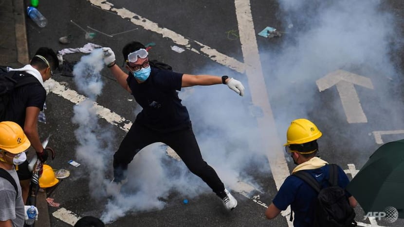 Hong Kong police fire tear gas, rubber bullets as clashes with protesters break out