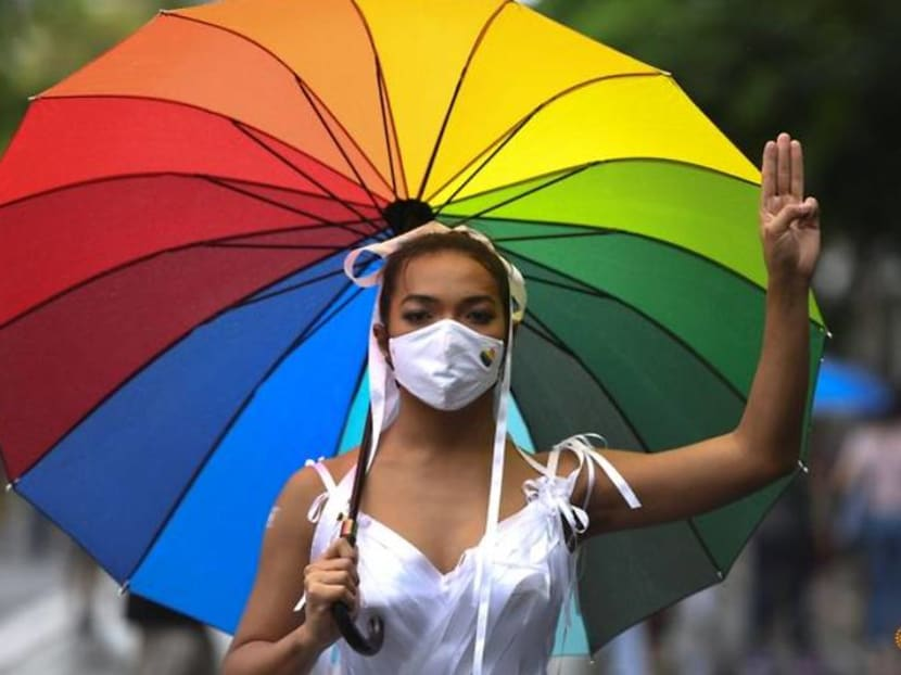 Wider Image: Thai 'Drag Race' star marches for democracy and equality
