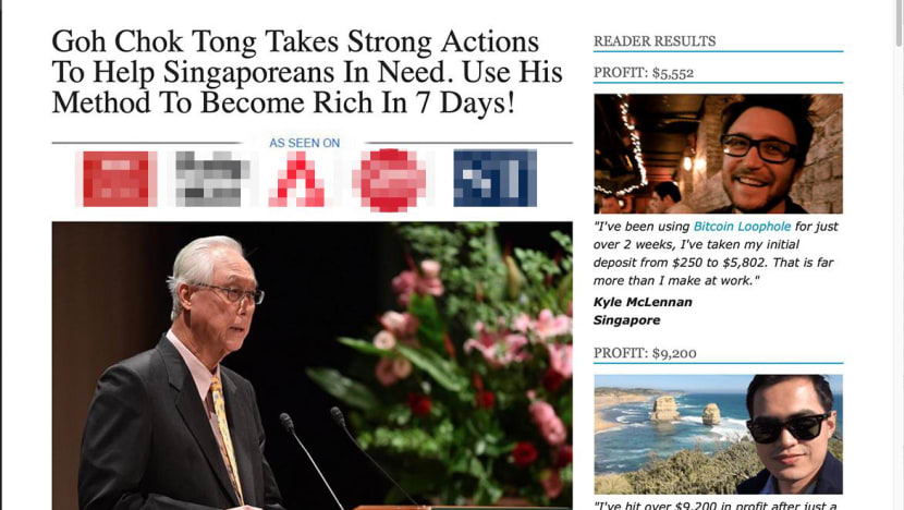 Website using fabricated comments attributed to ESM Goh to solicit Bitcoin investment: MAS