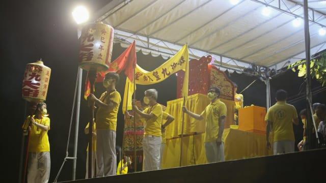 九皇爷迎驾仪式限制参与人数 少数公众到场围观