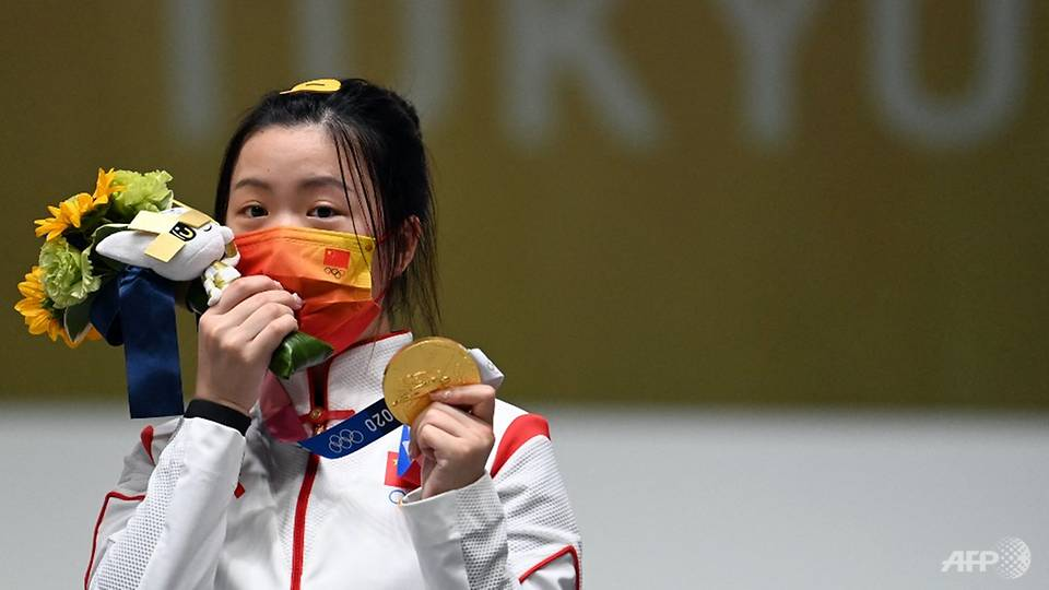 Olympics: Chinese shooter Yang wins first gold medal of Tokyo Olympics