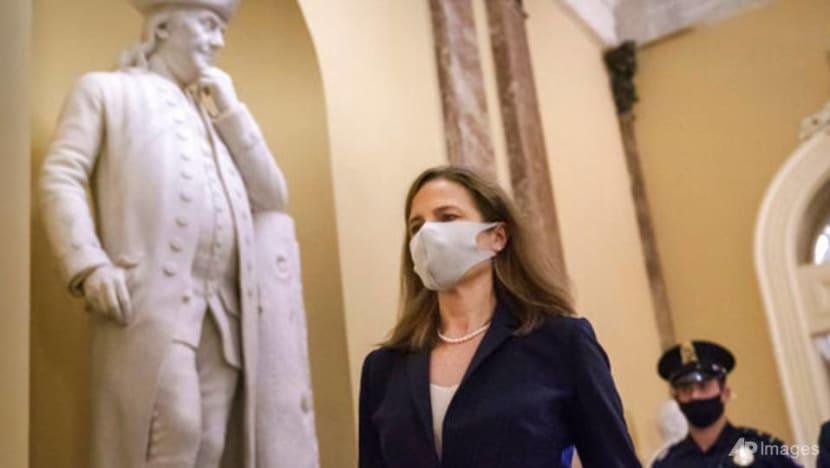 US Supreme Court nominee Barrett advances to full Senate vote despite Democrat boycott