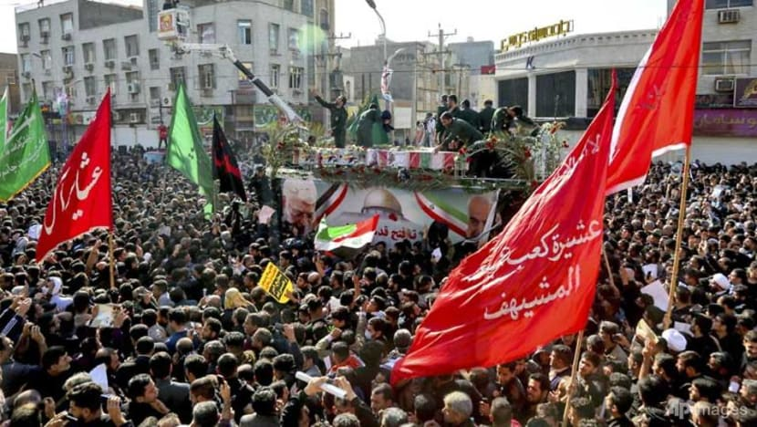 Black-clad Iranians mourn general killed by US