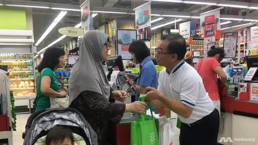 Customer reactions mixed as FairPrice begins charging for plastic bags in one-month trial