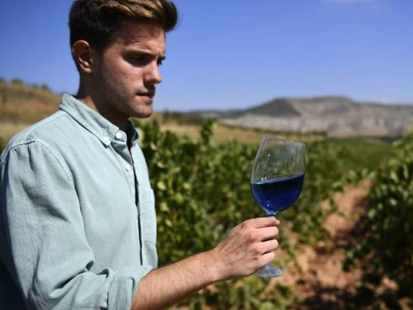 Fancy a glass of blue wine? A Spanish company is making waves in a conservative industry