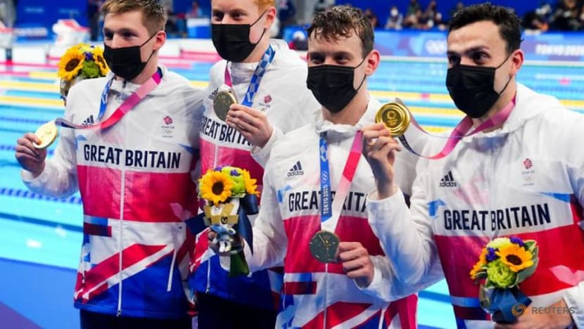 Olympics-Swimming-Tears and triumph as Britain hit a 113-year high