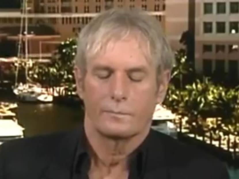 Five more minutes, please: Michael Bolton appears to fall asleep on live TV