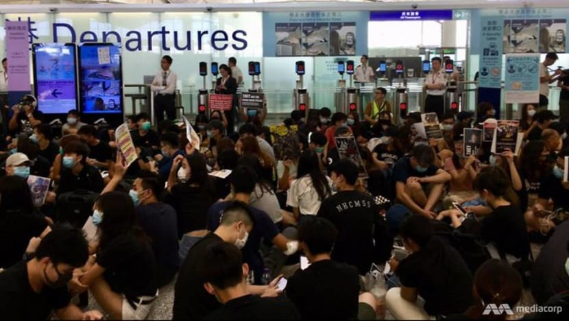 Hong Kong flights disrupted for a second day amid protests